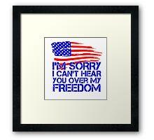 My Freedom American Flag Framed Print