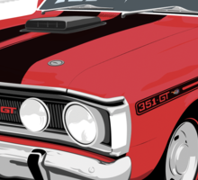 Ford Falcon XY GT - Track Red  Sticker