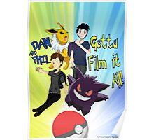 Dan and Phil Pokemon Trainer Poster Poster