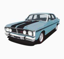 Ford Falcon XY GT - True Blue by antdragonist