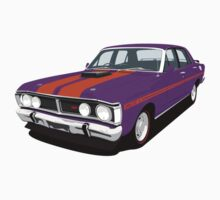Ford Falcon XY GT - Wild Violet Kids Tee