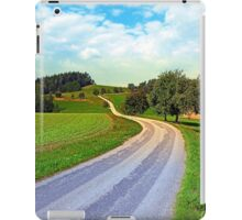 Apple trees along the country road | landscape photography iPad Case/Skin