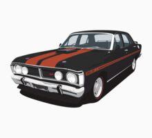 Ford Falcon XY GT - Onyx Black Kids Tee