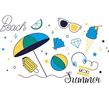 Beach Summer Photographic Print