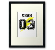 Team Captain: Khan Framed Print