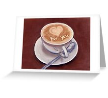 Caffe Latte Greeting Card