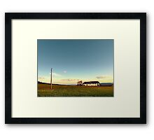 The serenity of countryside life | landscape photography Framed Print