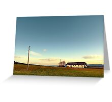 The serenity of countryside life | landscape photography Greeting Card