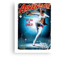 Adventure Stories Fridays Girl Canvas Print