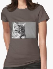 Black and White Kitten (Clothing Products) Womens Fitted T-Shirt