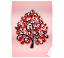 Red Glass Ornaments Poster