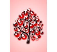 Red Glass Ornaments Photographic Print