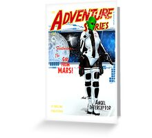 Adventure Stories the Girl From Mars Greeting Card