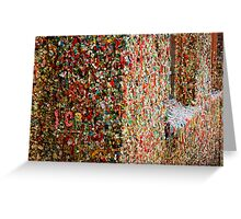 The Gum Wall Greeting Card
