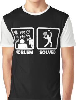 Funny Tennis Problem Solved Graphic T-Shirt