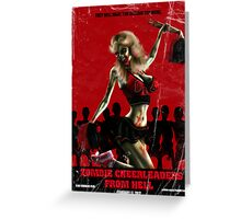 Zombie Cheerleader From Hell Tee Shirt Greeting Card