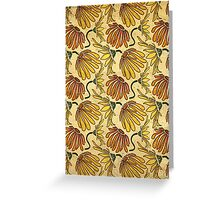 Retro 70's Golden Yellow Daisy Pattern  Greeting Card