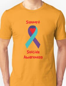 Support Suicide Awareness - Ribbon T-Shirt