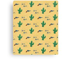 wild west pattern Canvas Print