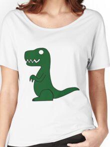 Dino Green Women's Relaxed Fit T-Shirt