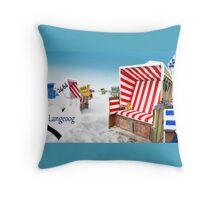 Langeoog Holidays Throw Pillow