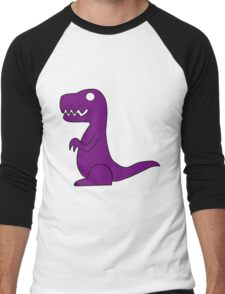 Dino Purple Men's Baseball ¾ T-Shirt