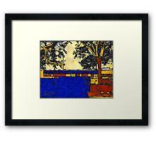 Vincent's Japanese Garden Framed Print