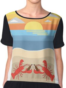 Lobster Cheers Chiffon Top