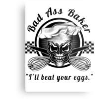 Bad Ass Baker: Skull 1 Metal Print
