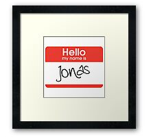 My Name is Jonas Framed Print