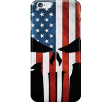 The Punisher American Flag Grunge iPhone Case/Skin