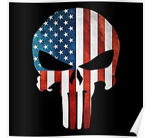 The Punisher American Flag Grunge Poster