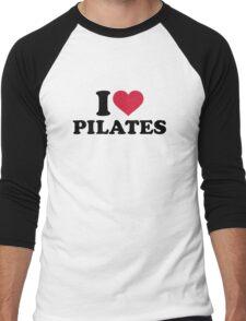 I love Pilates Men's Baseball ¾ T-Shirt