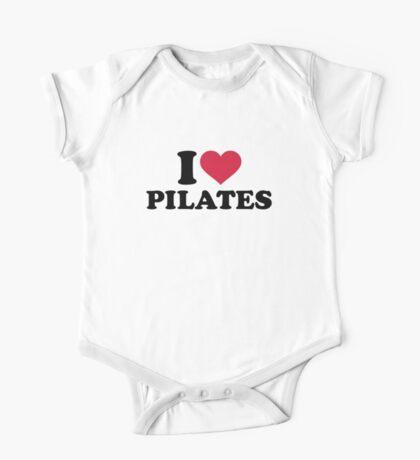 I love Pilates One Piece - Short Sleeve