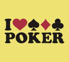 I love Poker gambling Kids Clothes