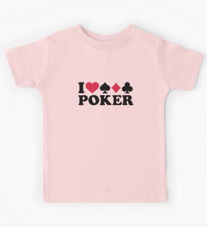 I love Poker gambling Kids Tee