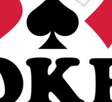 I love Poker gambling Sticker