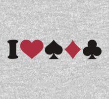 I love Poker Baby Tee