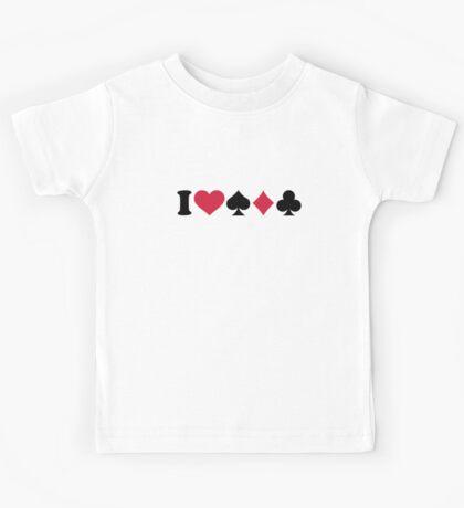 I love Poker Kids Tee