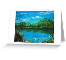 Blue Lake Greeting Card