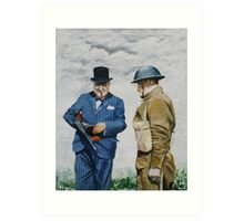 WWII Winston Churchill Art Print