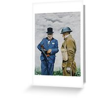 WWII Winston Churchill Greeting Card