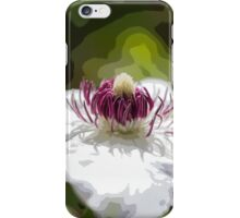 arty clematis iPhone Case/Skin