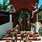 Blonde models only posing for White Tank Project - Vertical by Anton Oparin