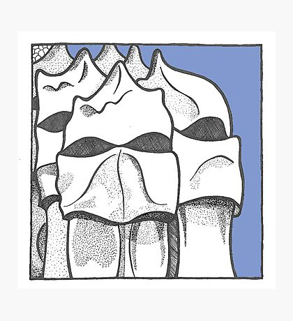 Barcelona - Gaudi's chimney heads Photographic Print