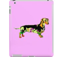 Graffiti covered Dachshund  iPad Case/Skin