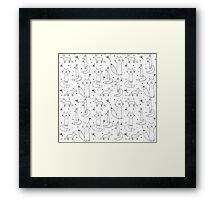 Foxes Monochrome Framed Print