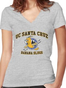 UCSC Banana Slugs Women's Fitted V-Neck T-Shirt