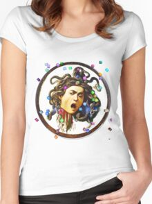 Medusa In The Cubes Women's Fitted Scoop T-Shirt