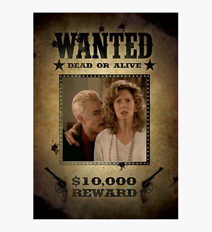 Buffy Spike and Joyce Wanted Photographic Print